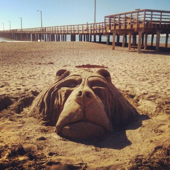 Bear_Sand Sculpture