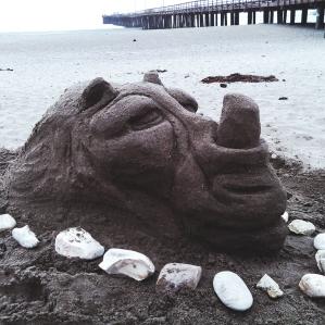 Rhino_Sand Sculpture